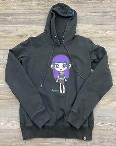 Tokidoki Hoodie Sweatshirt Women's Large Black Screen Printed Graphic