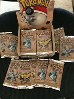 Pokemon Fossil Booster Pack Sealed Unweighed From Freshly Opened Box.. One Pack