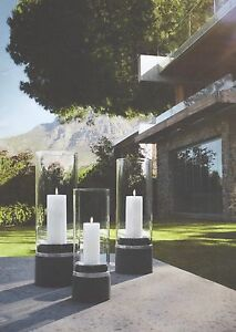 PIEDRA Windproof Candle holder by BLOMUS, Choice 4 sizes.Suitable for outdoors.