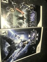 Star Wars The Force Unleashed 1 & 2 II Nintendo Wii Lot 2 Game Set Bundle TESTED