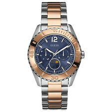 NEW GUESS WATCH for Women * Two Tone Rose Gold and Silver * Blue Dial * U0565L3