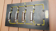 Electrical Circuit  Resistance Demonstration Education Antique Steampunk Board