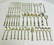 44 Pieces Vintage Grape Silverplate Flatware 1847 Rogers Bros. Crafts & Other