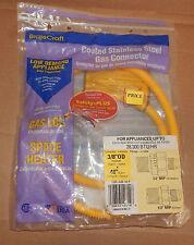 """Brass Craft Gas Connector Gas Log & Space Heater 48"""" x 3/8"""" USA CSSL44E-48P 86G"""