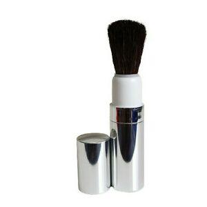 Clinique Retractable Powder Makeup Brush Silver Case Travel Size