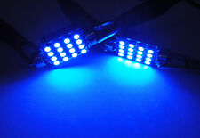BLUE No Error 16 SMD LED 6418 6411 for PORSCHE License Plate Light Festoon Bulb