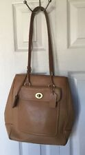 VINTAGE COACH  TAN LEATHER RARE SHOULDER BAG HOBO MULTI POCKET TOTE # J1P-9714