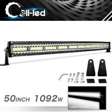 Curved 50 inch 1092W Tri Row LED Light Bar Combo for Ford Offroad 4X4 Boat 50""
