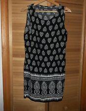 Petite Black/ White Geometric Summer Sun Dress,  Size Petite XL, NEW