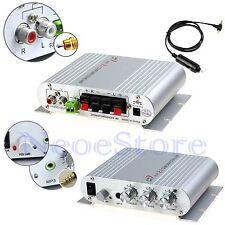 Mini Stereo Amplifier Digital HiFi Audio AMP Super Bass For MP3 IPod Aux Car US