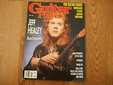 GUITAR PLAYER AUGUST 1989 - JEFF HEALEY ON FRONT COVER - FREE POSTAGE