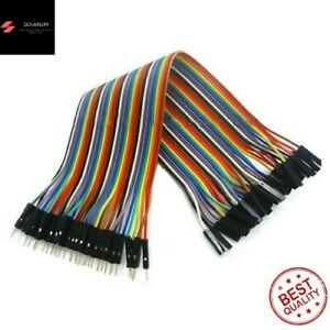 40 Pcs 20cm Male to Female Color Dupont Line Jumper Cable Wires For Arduino New