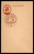 Japan Flags Pictorial Cancel Postal Stationery Card
