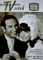 TV Guide 1968 Get Smart Wedding Issue Don Adams Barbara Feldon TV Week MINT COA