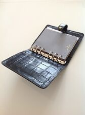 Stunning Mulberry Agenda Organiser Filofax In Black Nile Leather Excellent