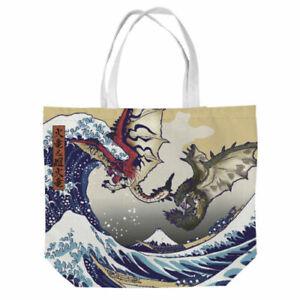 """Monster Hunter"" Ukiyo-e Tote Bag Rathalos & Rathian x Fugaku 4976219102629"