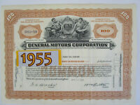 Classic 1955 GM GENERAL MOTORS Stock Certificate. Gift for Him. 1950s Auto Art