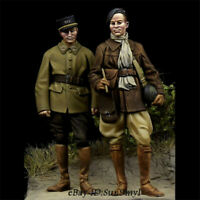 1/35 France Tank Soldiers Resin Kits Unpainted Set of 2 Figures Model GK