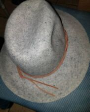 ba1572f2d3e02 Merona Grey Brim Wool Fedora Rancher Hat  New With Tags