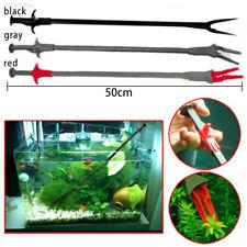 Long Aquarium Fish Tank Plastic Plant Pruning Tongs Tweezer Pliers Tool 50CM