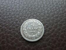 Belgie - 1/4 Franc 1834 - Zilver - Leopold I - Frans - Zeer mooi