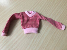 Barbie Doll Fashion Fever Red Pink Long Sleeve Sweater Top Outfit Rare
