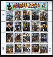 USA Scott# 2975 AMERICAN CIVIL WAR Miniature Pane of 20 Stamps - MNH