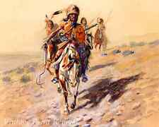 On The Trail by Charles M Russell - Native American Indian Scout 8x10 Print 1172