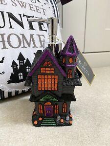 TK Maxx Homesense Halloween Gothic Spooky Haunted House Hand Soap Dispenser NEW