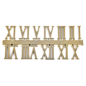 Stick on clock numbers roman numerals 10mm art craft dial sticking gold 1 setFEH