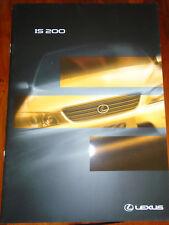 Lexus IS200 brochure Oct 1998