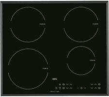 AEG HKL65410FB Electric 4 Zone Black MaxiSense Plus Touch Control Induction Hob
