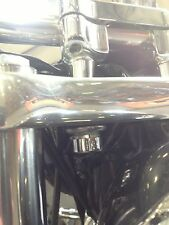 """SHINY NUTZ CHROME HANDLE BAR  RISER BOLT COVER SET 2PC. 3/4"""" HOT look TOPPERS"""