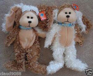 """SKANSEN CUDDLY KID """"JOJO & MOJO THE JAFFA PUPPIES BEARS MINT WITH MINT TAGS"""