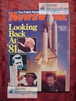 NEWSWEEK January 4 1982 Jan 1/4/82 1981 in review POLAND reistance