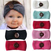 Big Baby Girls Hairband Bow Soft knot Elastic Band Headband Hair Knit New 1pc