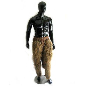 Brown Hairy Pants Deer Fawn Legs Furry Adult Animal Halloween Costume