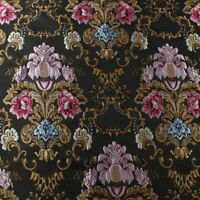 Court Brocade Fabric Damask Jacquard Embossed Flower Fabric 145cm Wide By Yard