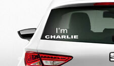 ADESIVO DECALCOMANIA I'M CHARLIE AUTOMOBILE HEBDO GOLF RENAULT AUDI PEUGEOT BMW