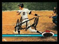 1991 Topps Stadium Club Alan Trammell Autographed Card #63 - Detroit Tigers TTM