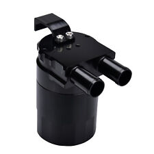 Billet Aluminum Baffled Engine Motor Oil Catch Can Breather Tank Bottle Black