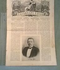 1908 Lóczy Lajos VASARNAPI UJSAG magazine Hungary Arany János Abdulaziz Thomas