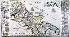 Antique map, Des Konigreichs Napoli Nord-Theil