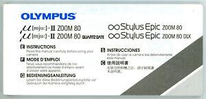 Bedienungsanleitung OLYMPUS µ [mju:]-II ZOOM 80 / ∞ STYLUS EPIC Manual (Y2134
