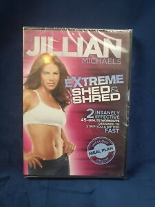 JILLIAN MICHAELS EXTREME SHED & SHRED DVD of WEIGHT LOSS Exercise WORKOUT VIDEO