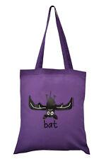 NEW TOTE BAG: BAT, Purple, 100% cotton