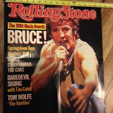 ROLLING STONE POSTER-BRUCE SPRINGSTEEN ENLARGED COVER Feb 28th, 1985