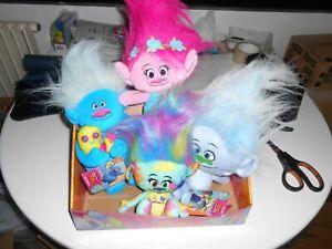"TROLLS plush-- set of 4--12"" soft toy Hug 'N Plush DreamWorks movie - NEW!"