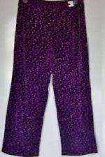 Purple Sparkle Velvety Lounge Pant Women's Size PM See Measurements Run Big