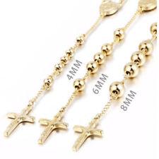 Catene, collane e pendagli da uomo in oro a croce in acciaio